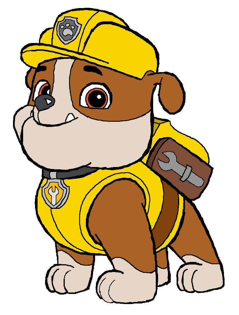 Rubble construction pup.