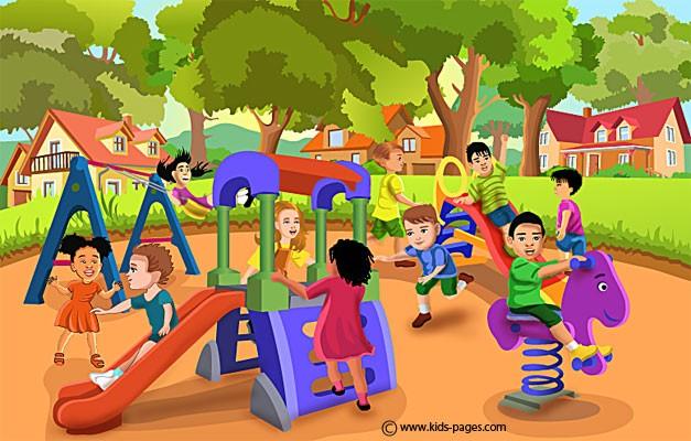 Free kids playing.