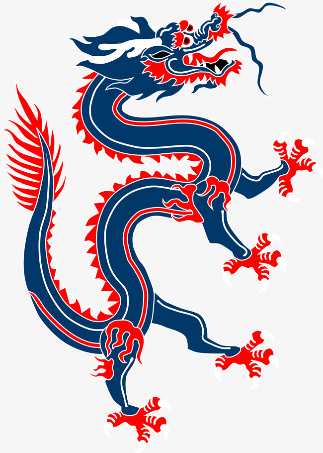 Red chinese dragon clipart