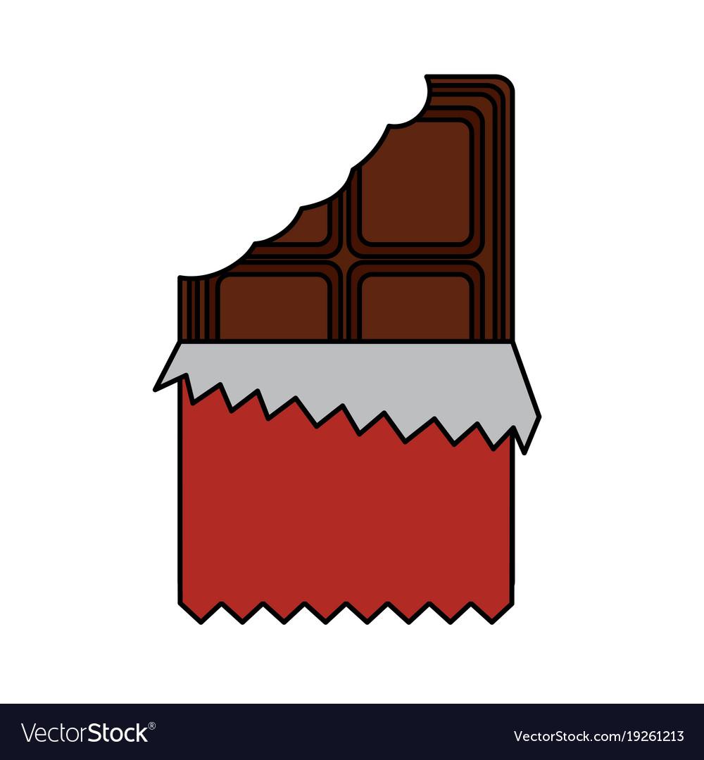 Chocolate bar bitten.