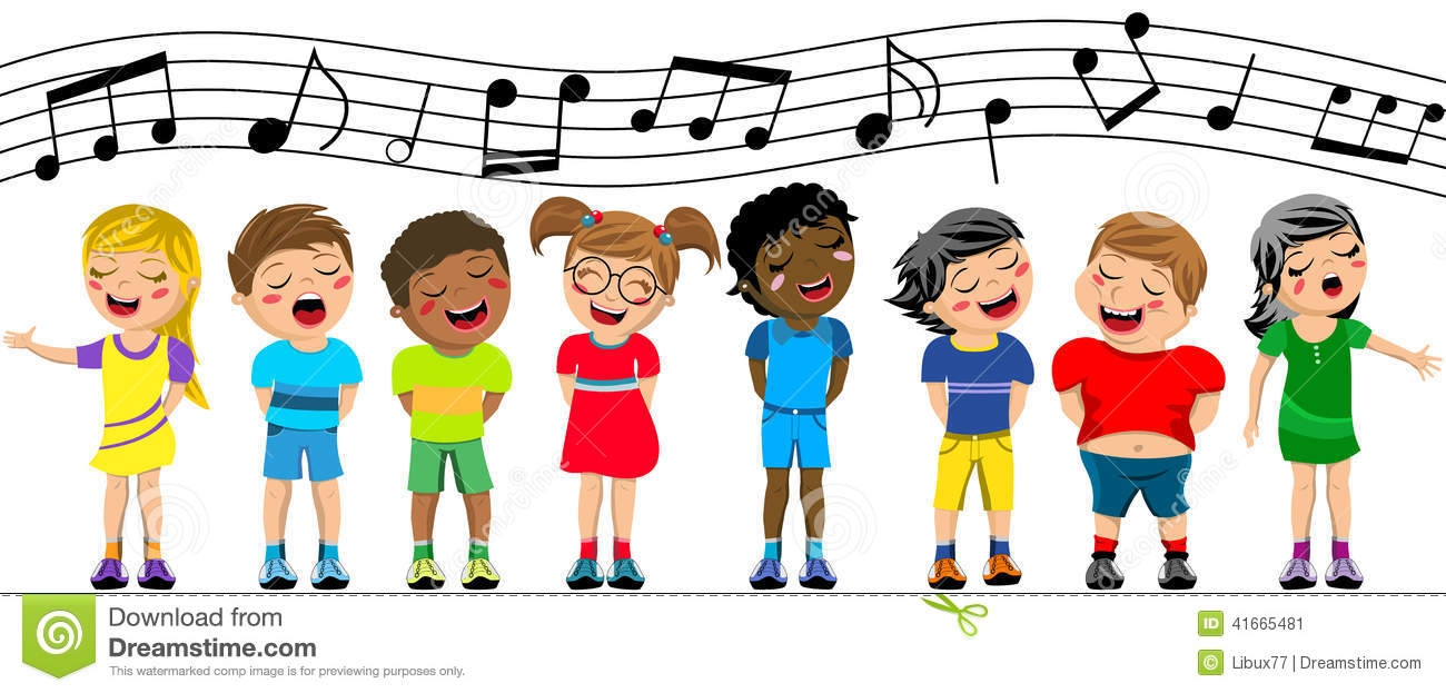 Childrens choir clipart.