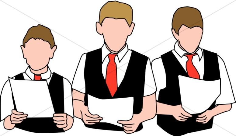 Three choir boys.