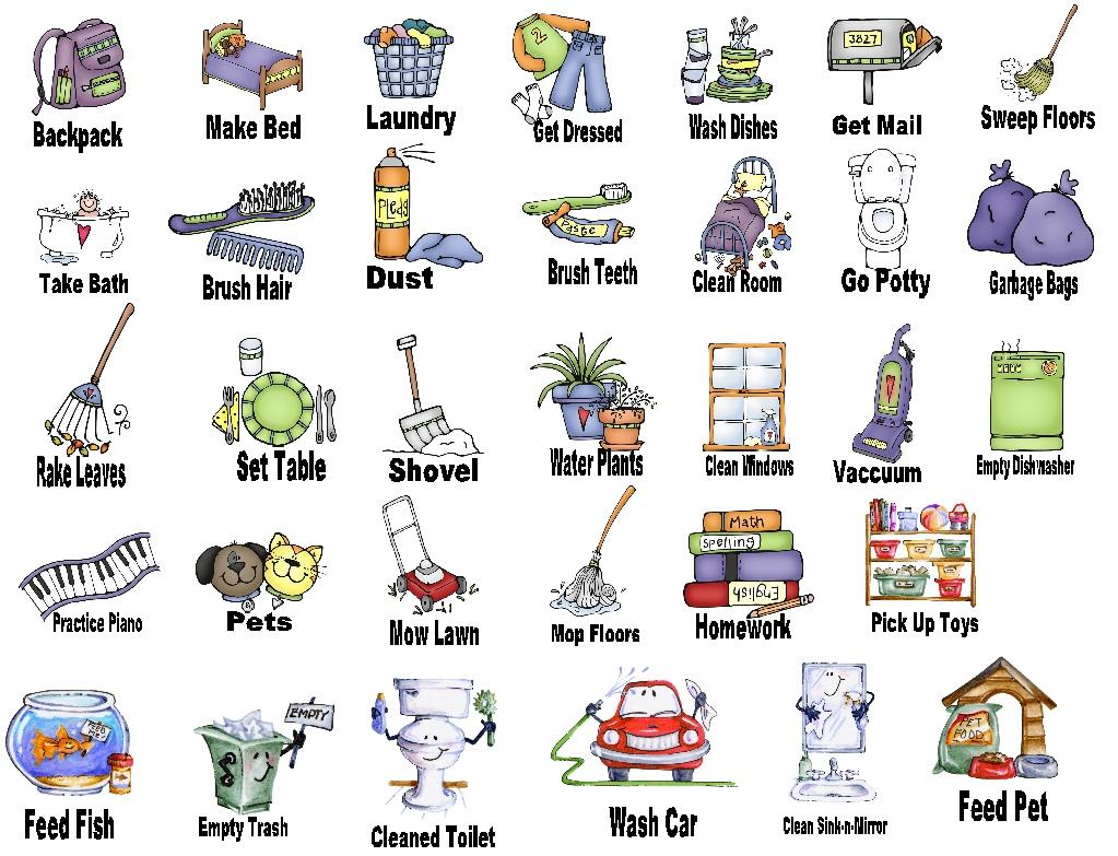 Free chores cliparts.