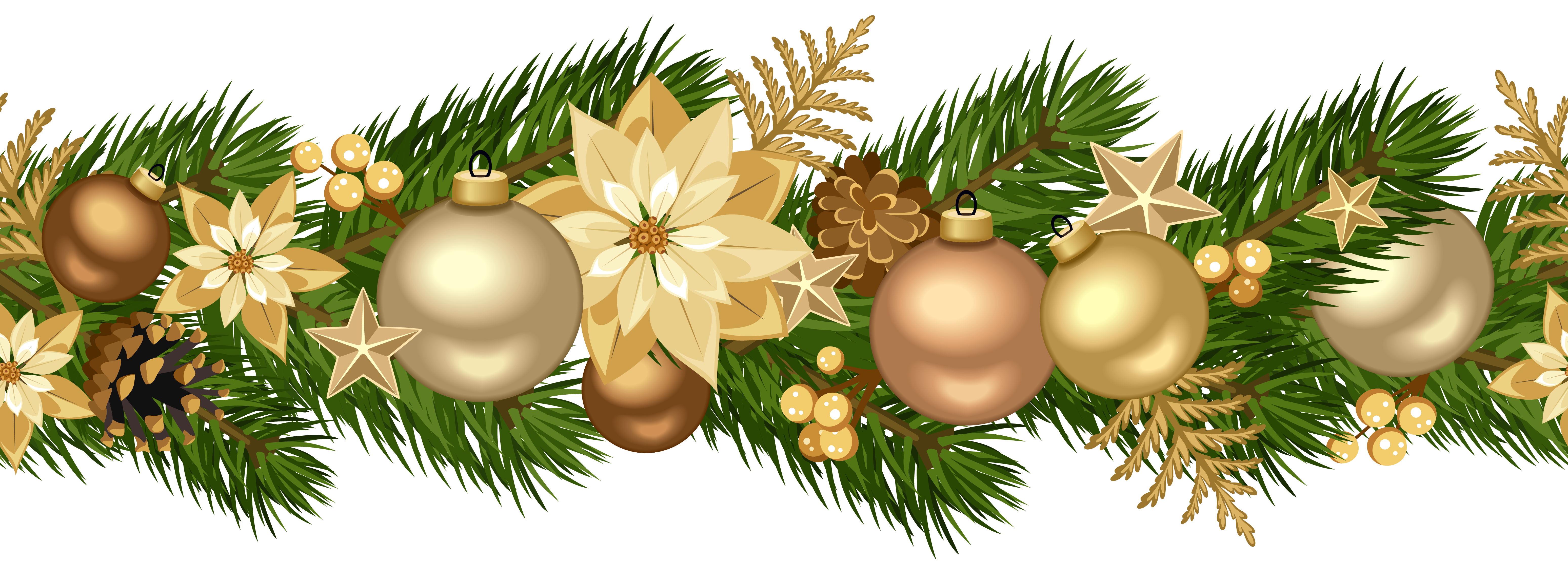 Christmas decorative golden.