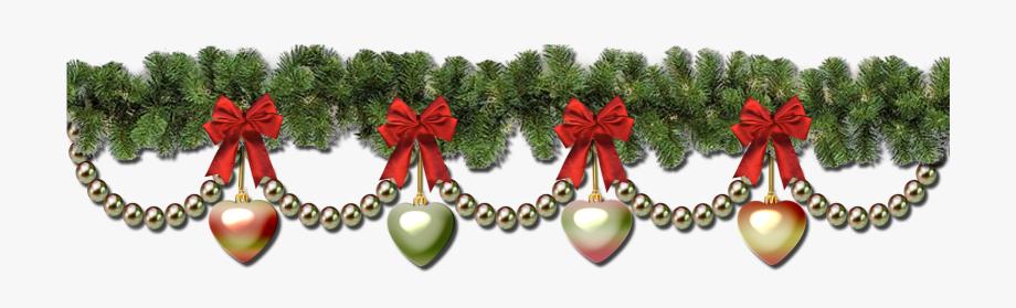 Christmas garland border.