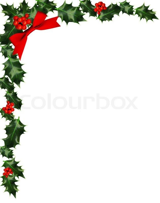 clipart corner holly
