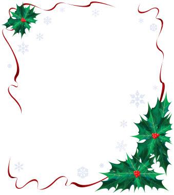 Christmas border red.