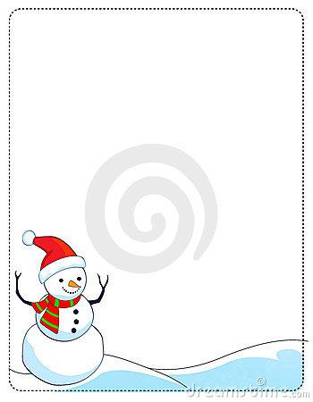 Best snowman border.