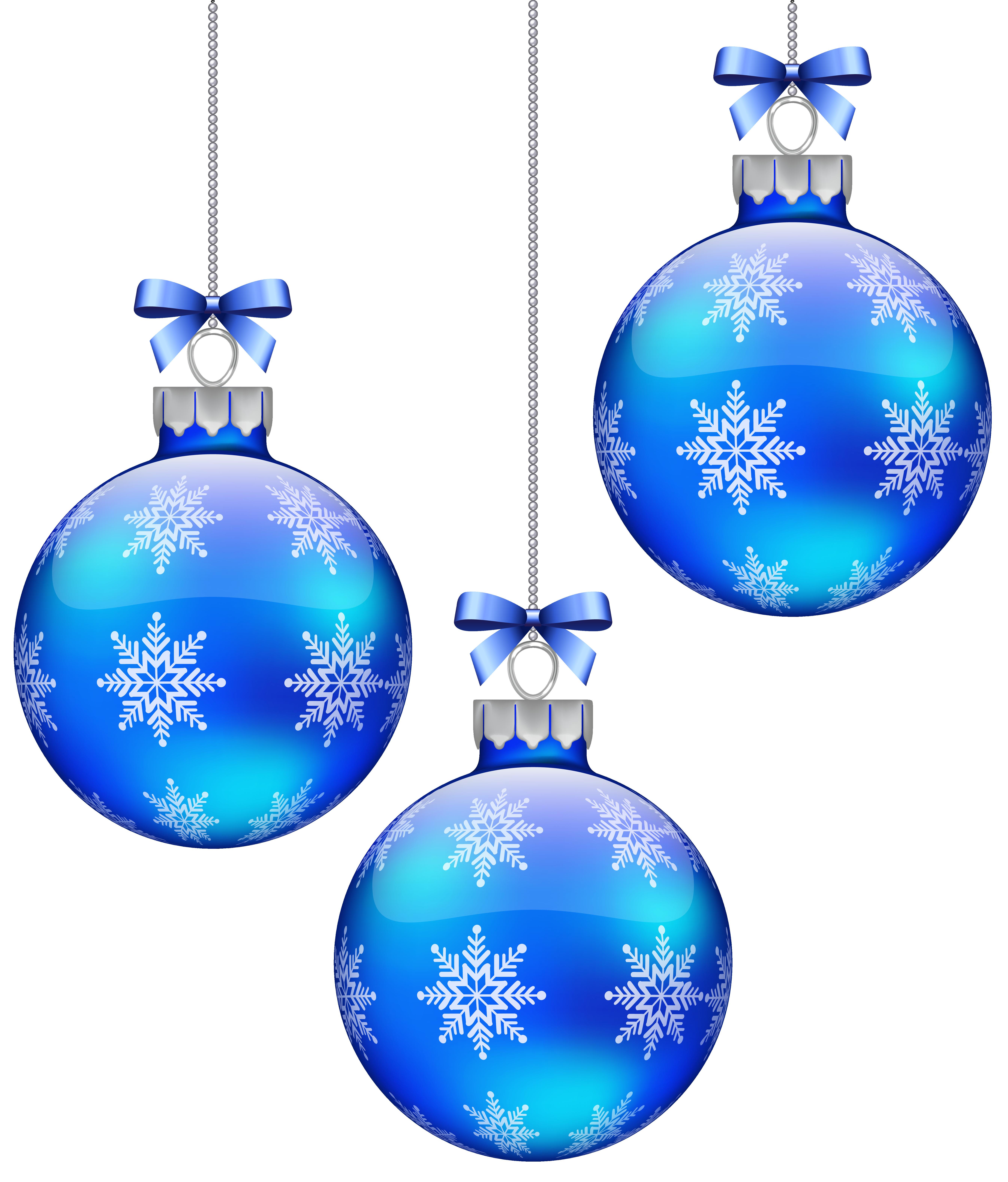 Blue christmas balls.