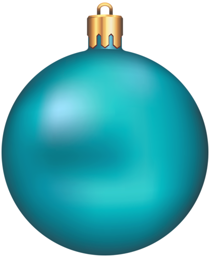 Christmas blue ornament.