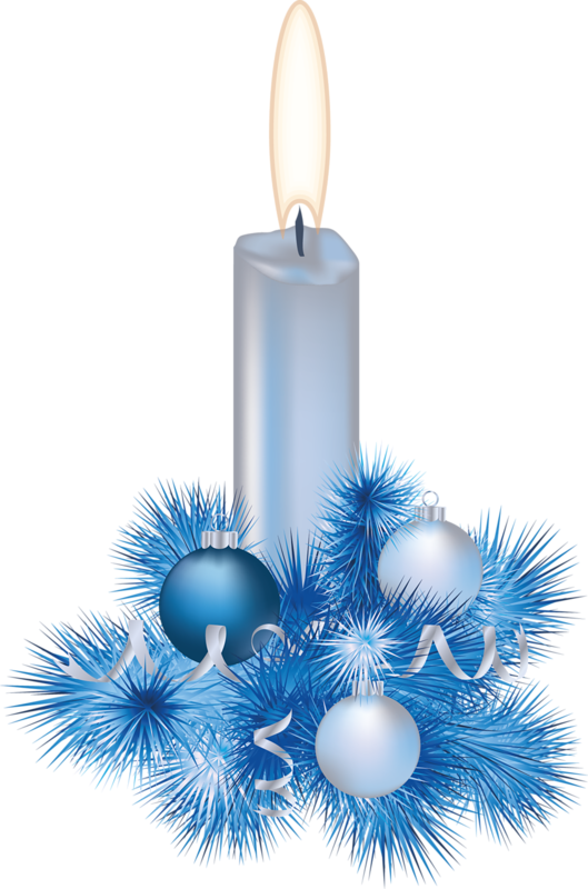 Christmas blue candle.