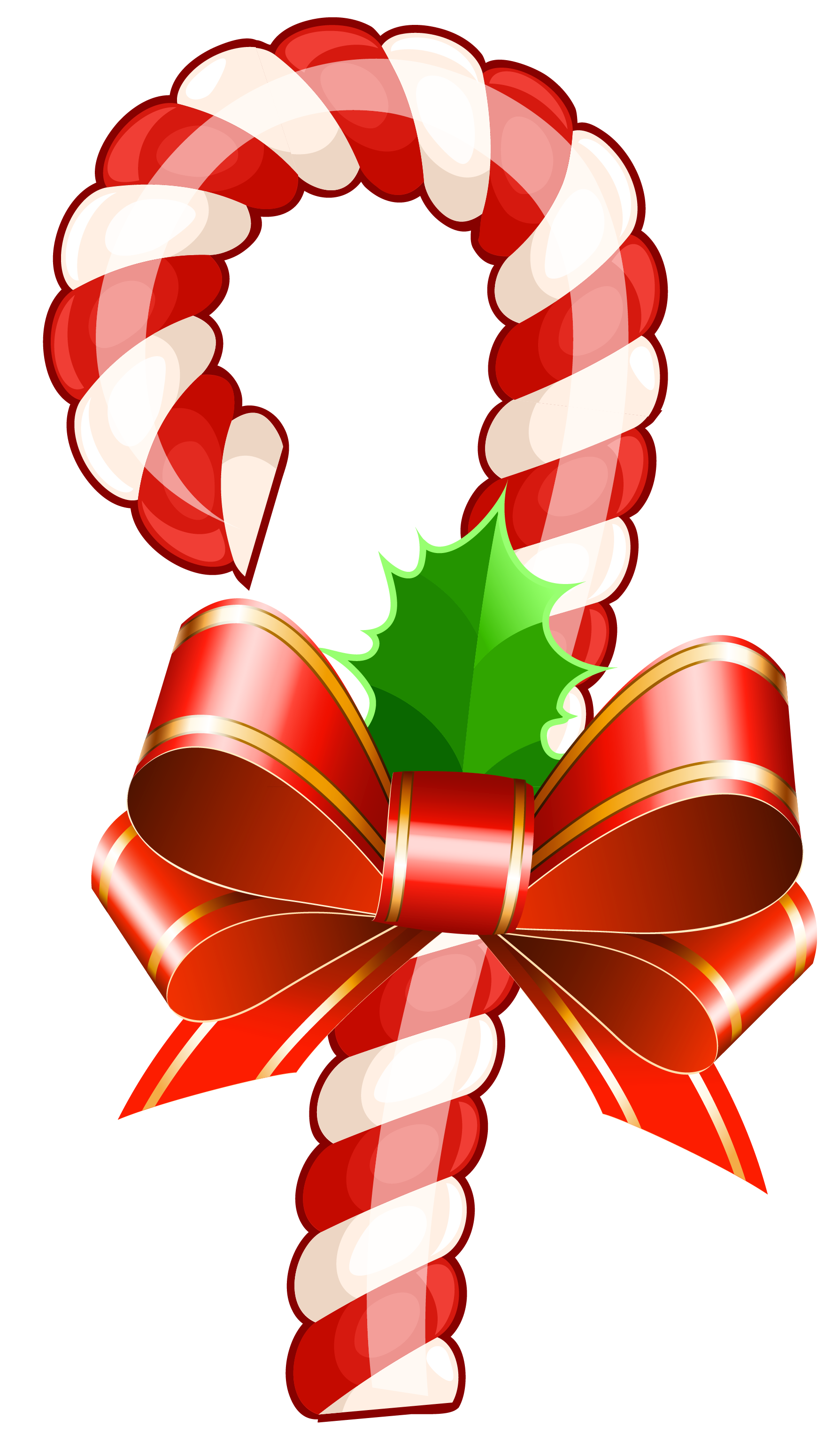 Large Transparent Christmas Candy Cane PNG Clipart