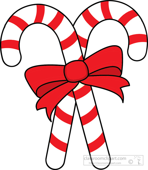 Candy Cane Christmas Clipart Two