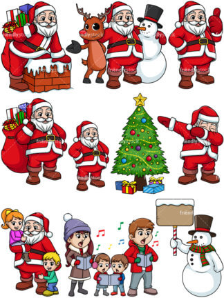 Christmas clipart cartoon.