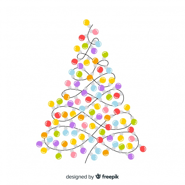 Elegant christmas background with light bulb tree Vector