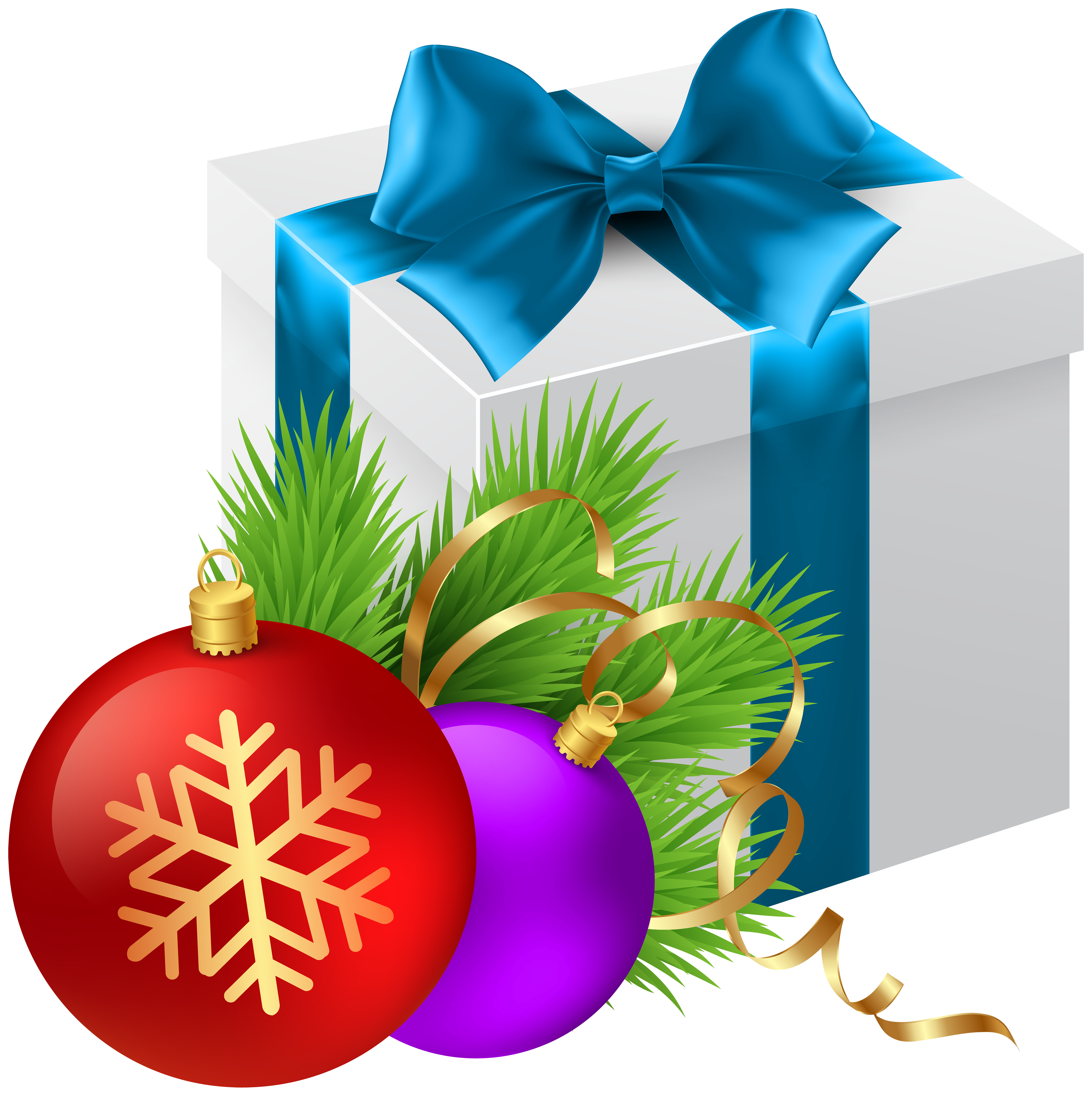 Christmas gift transparent.
