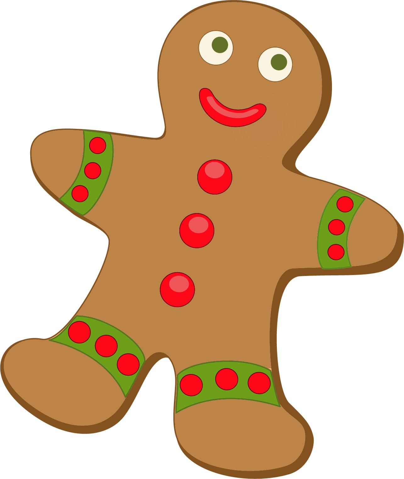 Christmas gingerbread png.