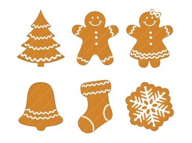 Christmas Gingerbread Cookies clip art CA