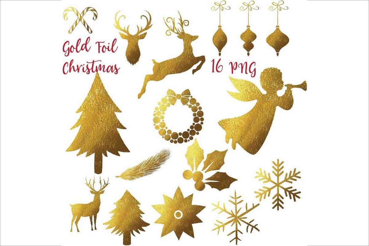 Gold Foil Christmas Clipart