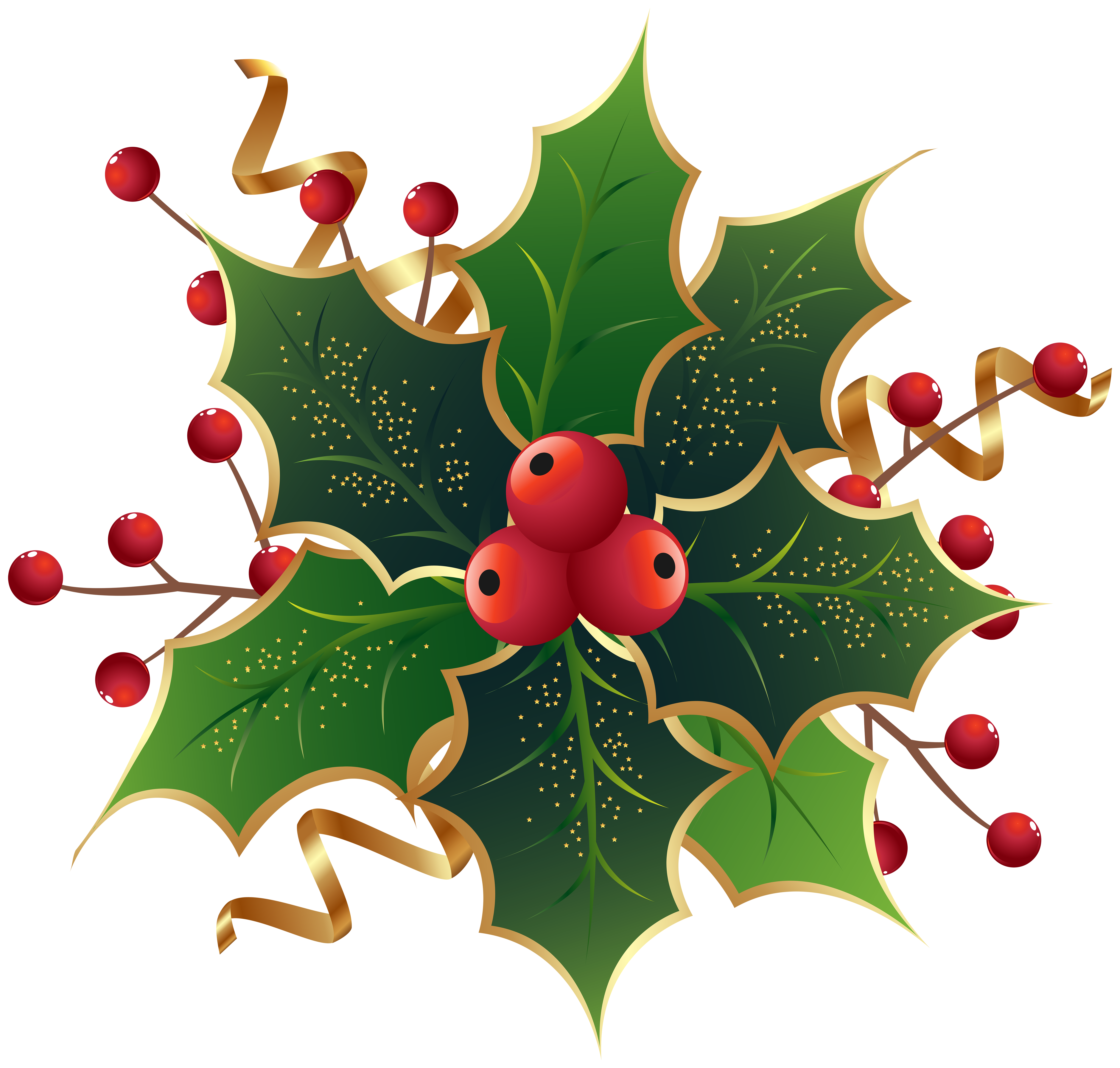 Christmas holly mistletoe.