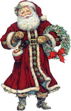 Old fashioned santa claus clip art