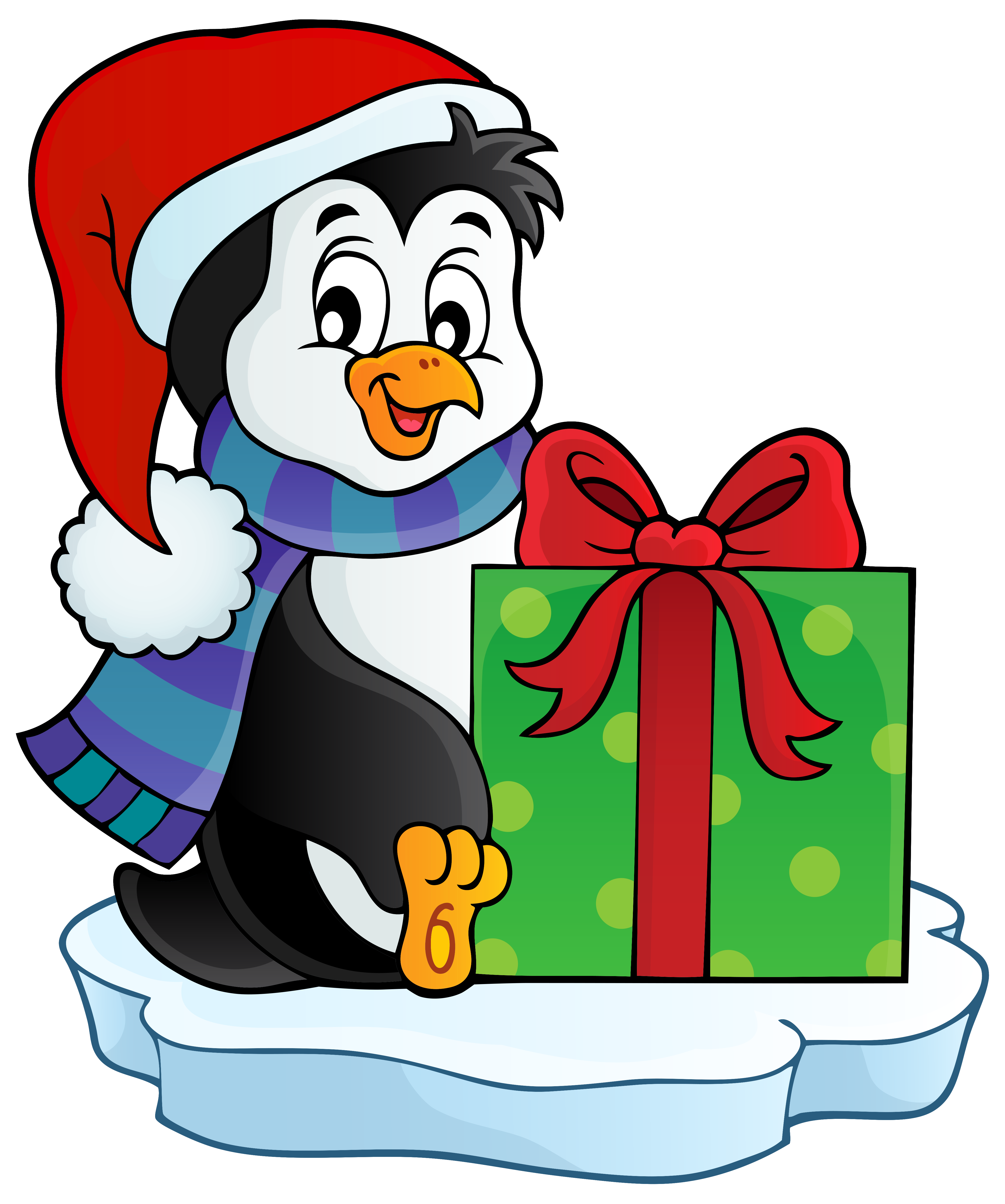 Christmas penguin transparent.