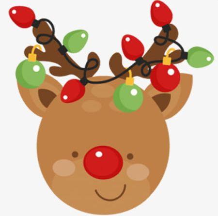 Christmas reindeer png.