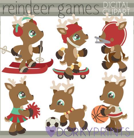 Reindeer Games Christmas Clipart