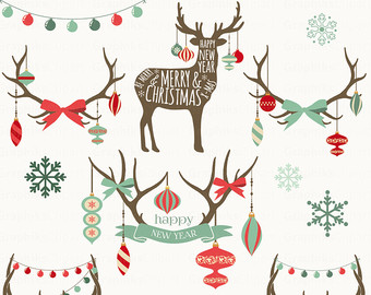 Rustic christmas clipart.