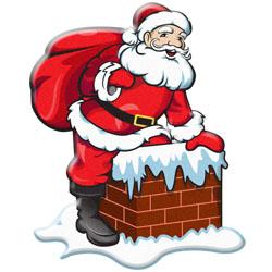 Santa and Elves Modern Clipart
