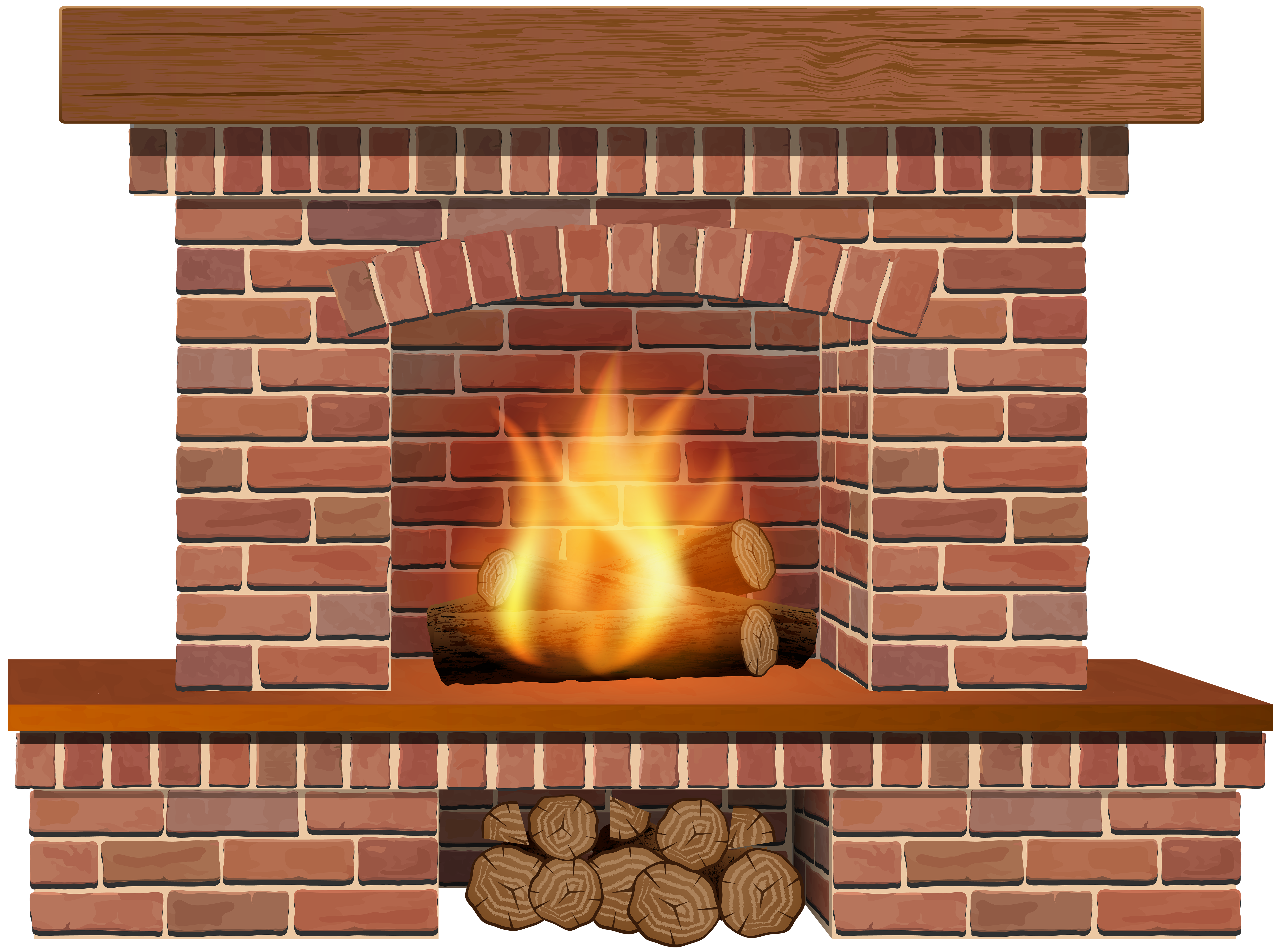 Christmas Fireplace PNG Clip Art