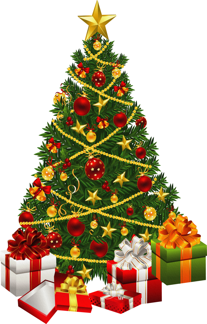 Christmas tree black.