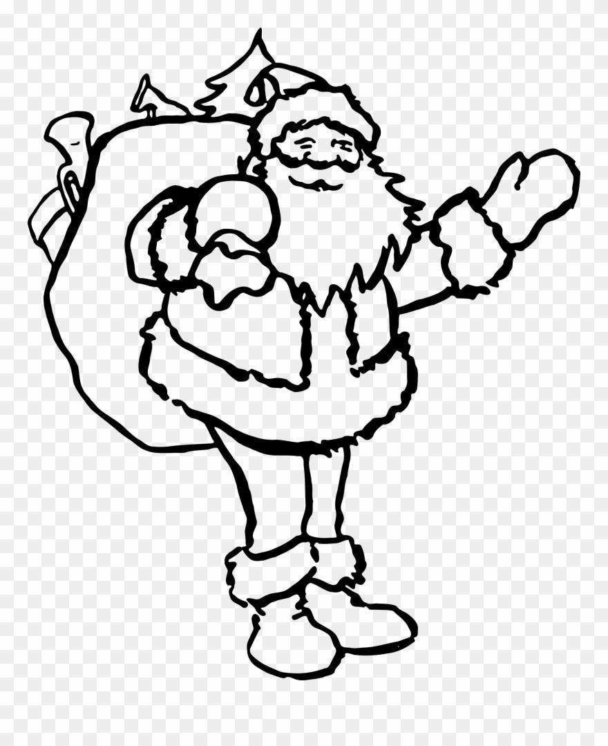 Santa claus drawing.
