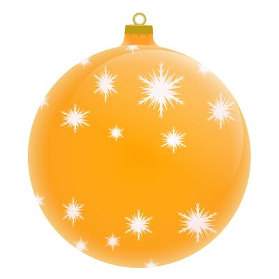 Merry christmas ornament.
