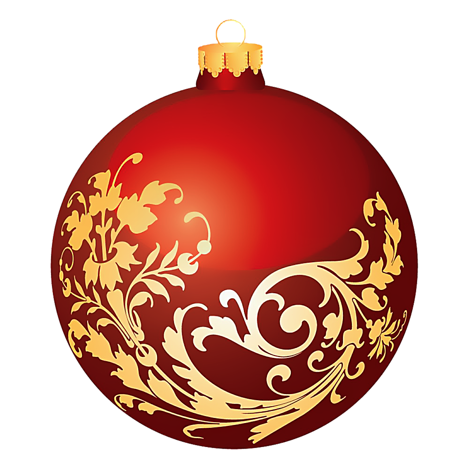 Christmas ornament clipart orange. Transparent free