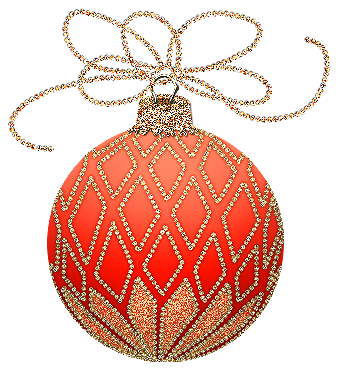 Christmas ornament clipart orange. And gold