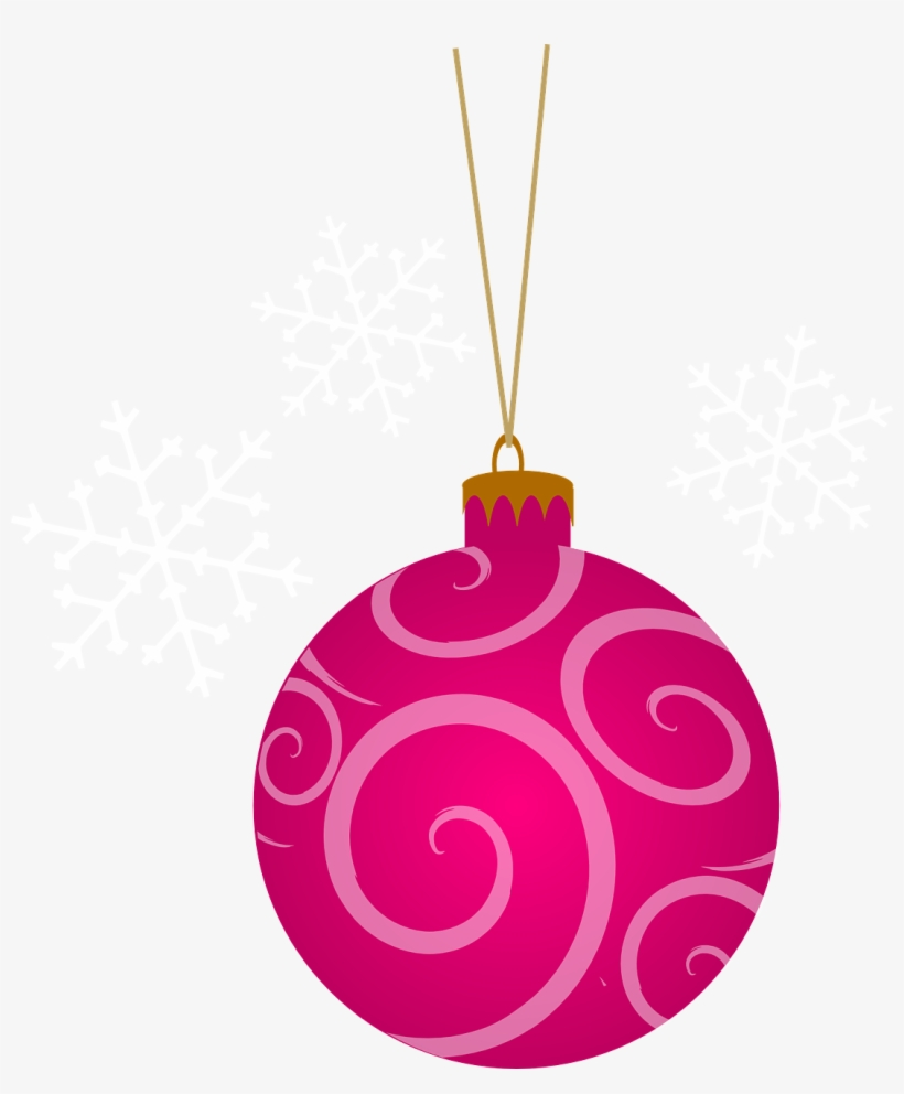 christmas ornament clipart pink