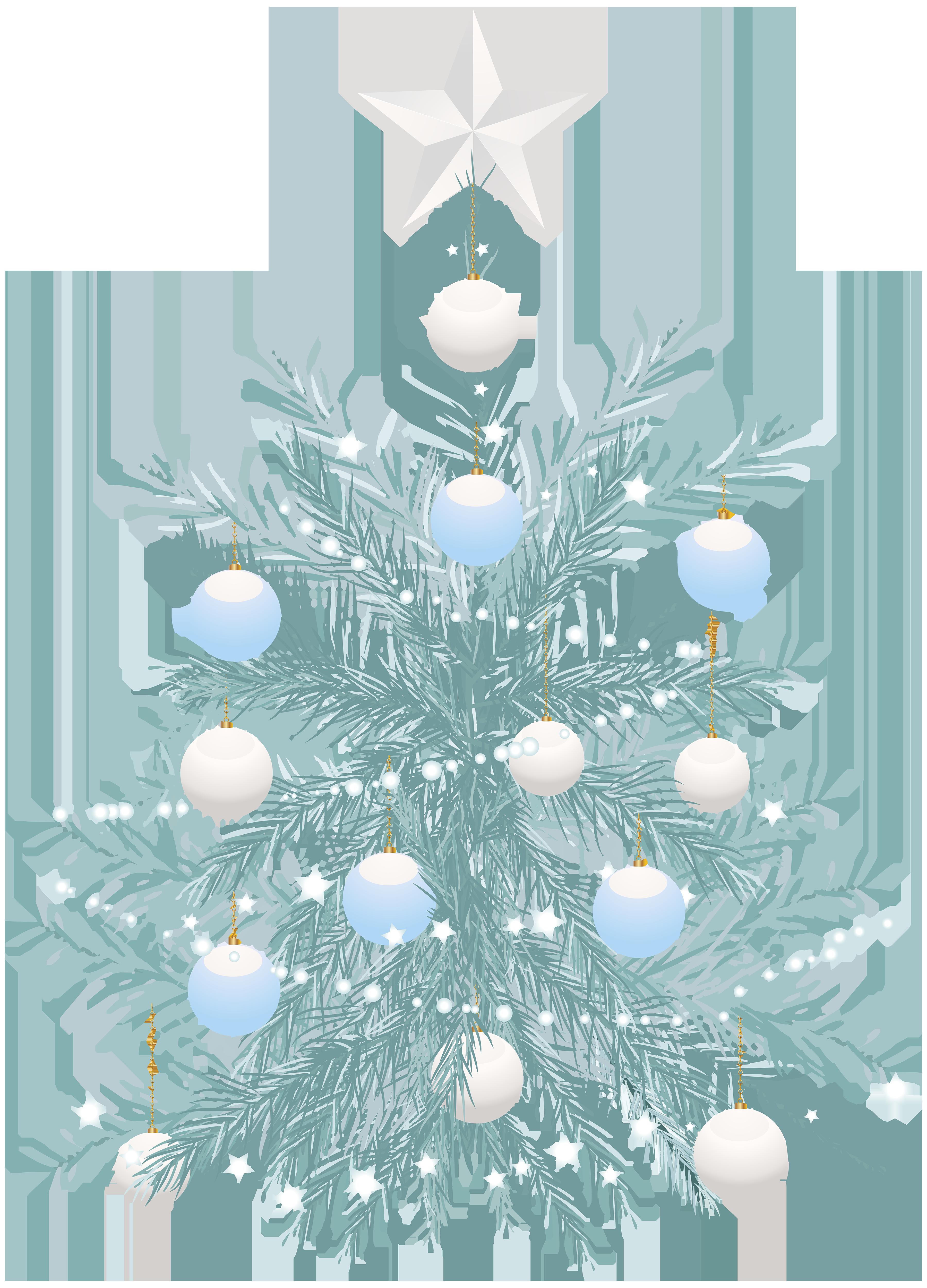 Christmas Tree Blue Transparent Clip Art