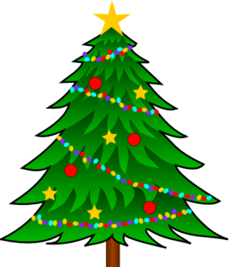 Christmas Tree Clip Art With Lights