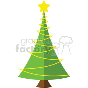 Cute Christmas tree design clipart