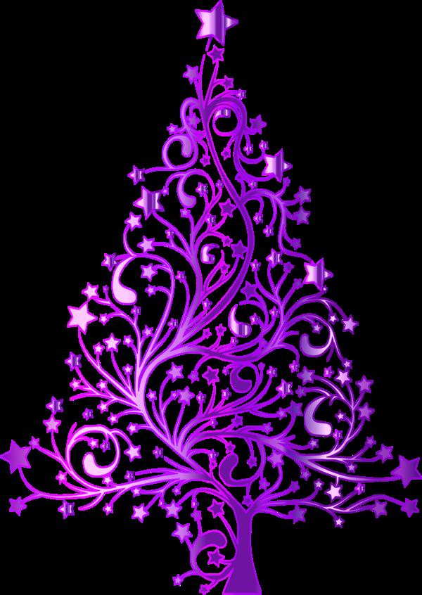 Elegant christmas tree.