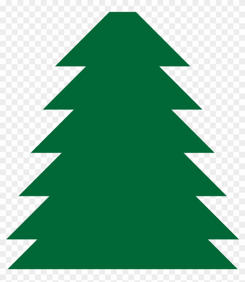 Green Christmas Tree Clipart, HD Png Download