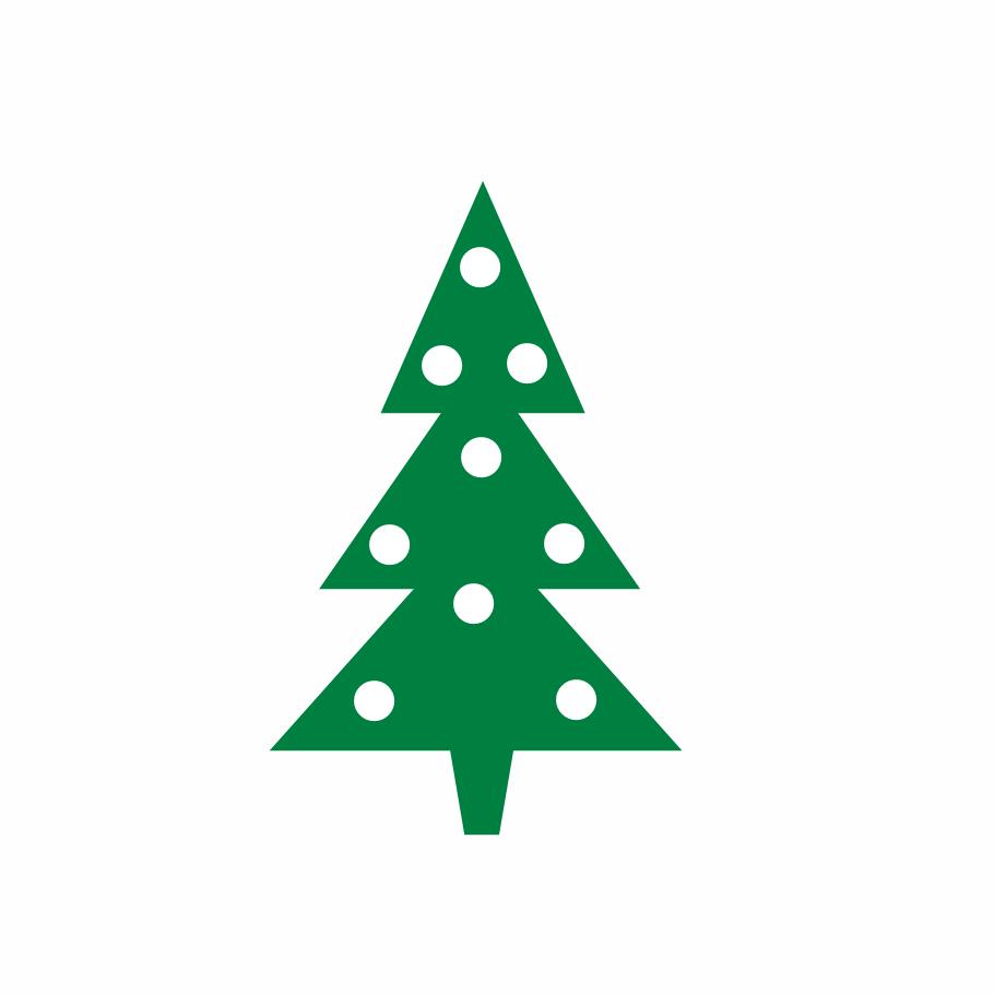 Christmas tree clip art tree modern christmas clipart kid