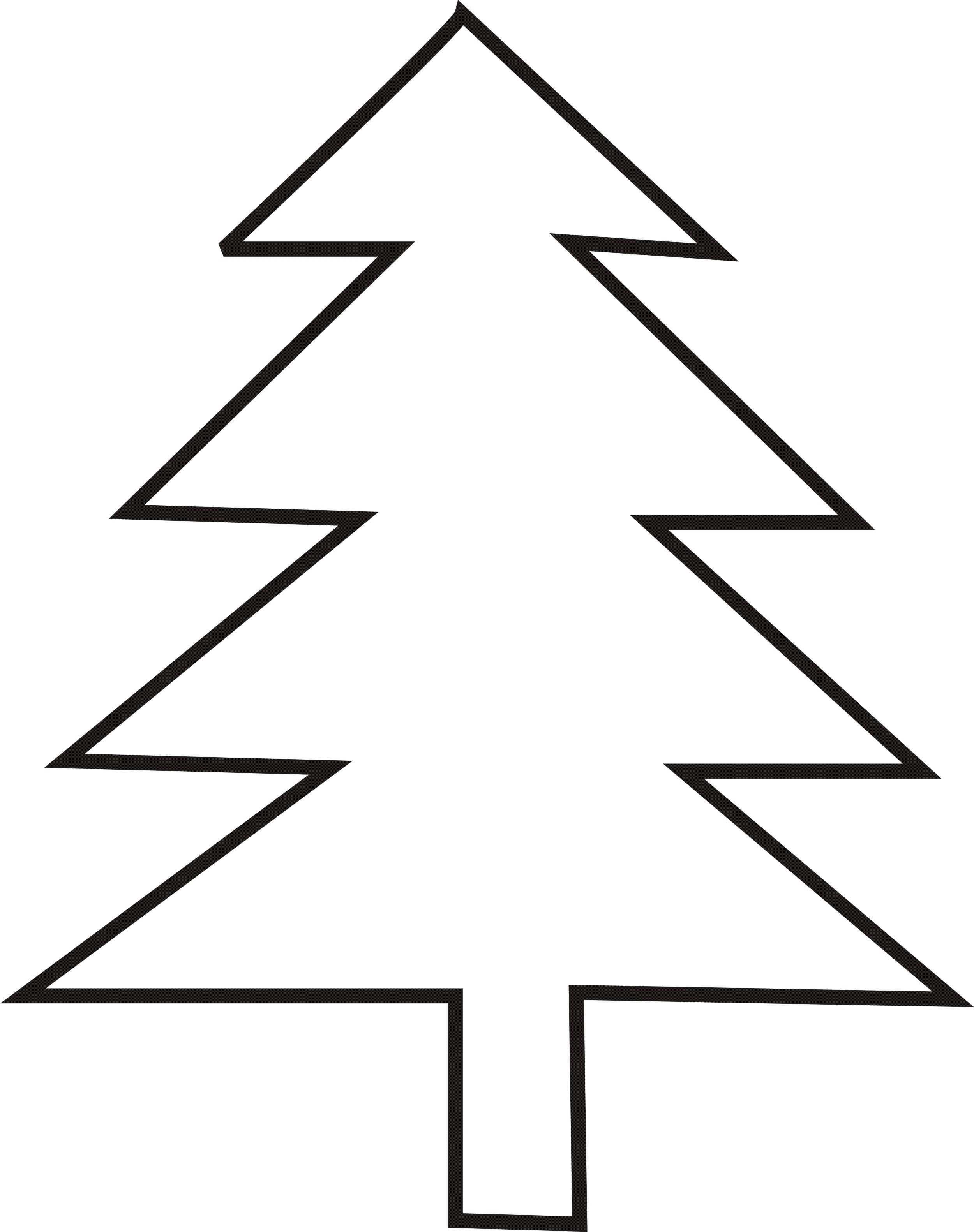 Free Christmas Tree Outlines, Download Free Clip Art, Free