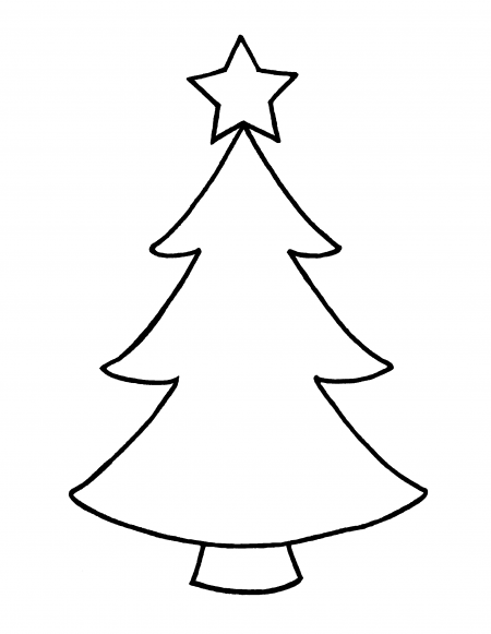 Christmas Tree Star Outline image gallery