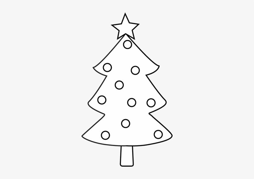 Clip Art Christmas Tree Outline Christmas Tree Black