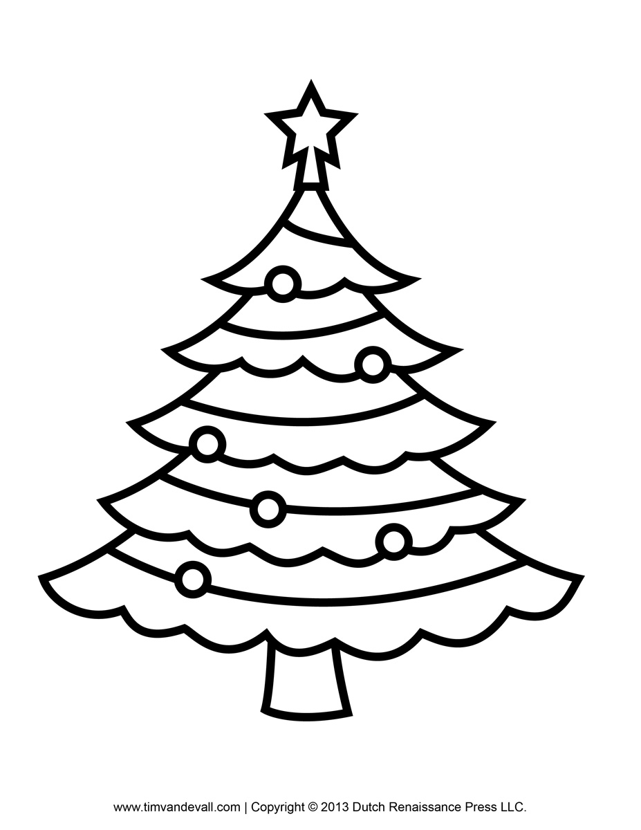 Free Outline Of A Christmas Tree, Download Free Clip Art