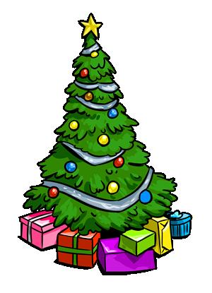 Snow christmas tree clipart