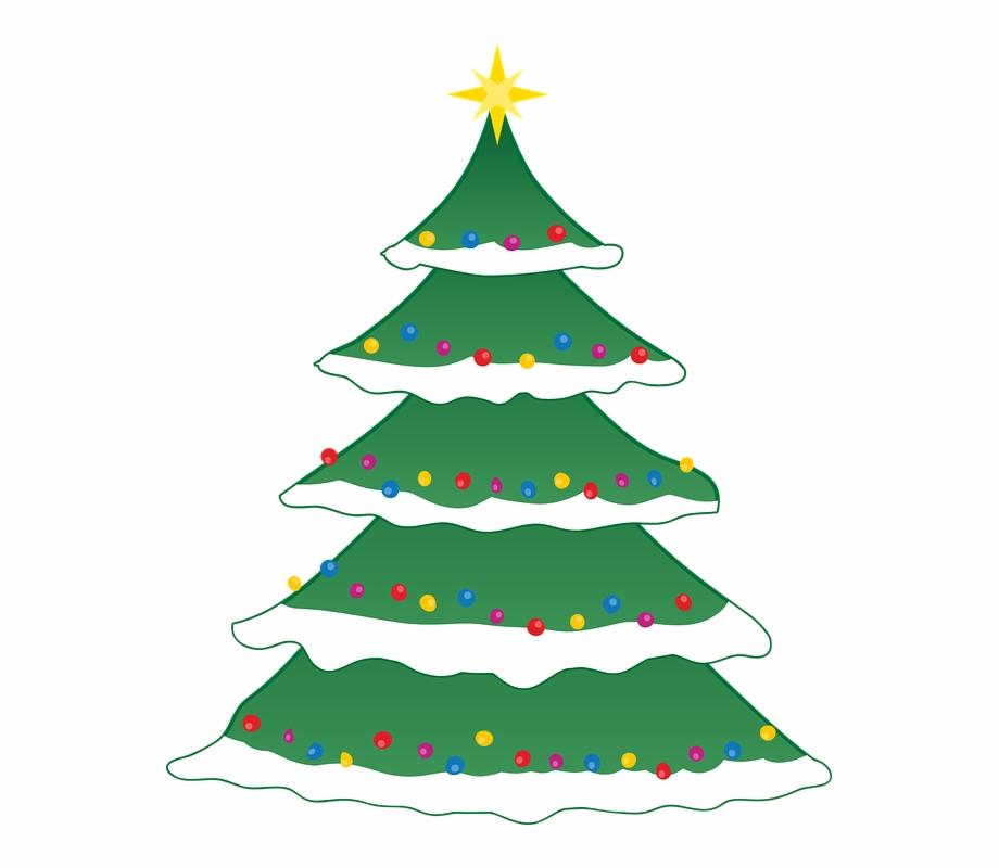 Christmas snow tree.