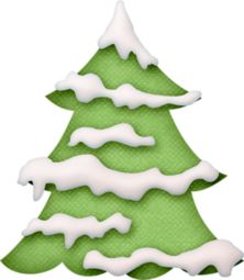 Christmas tree snow clipart